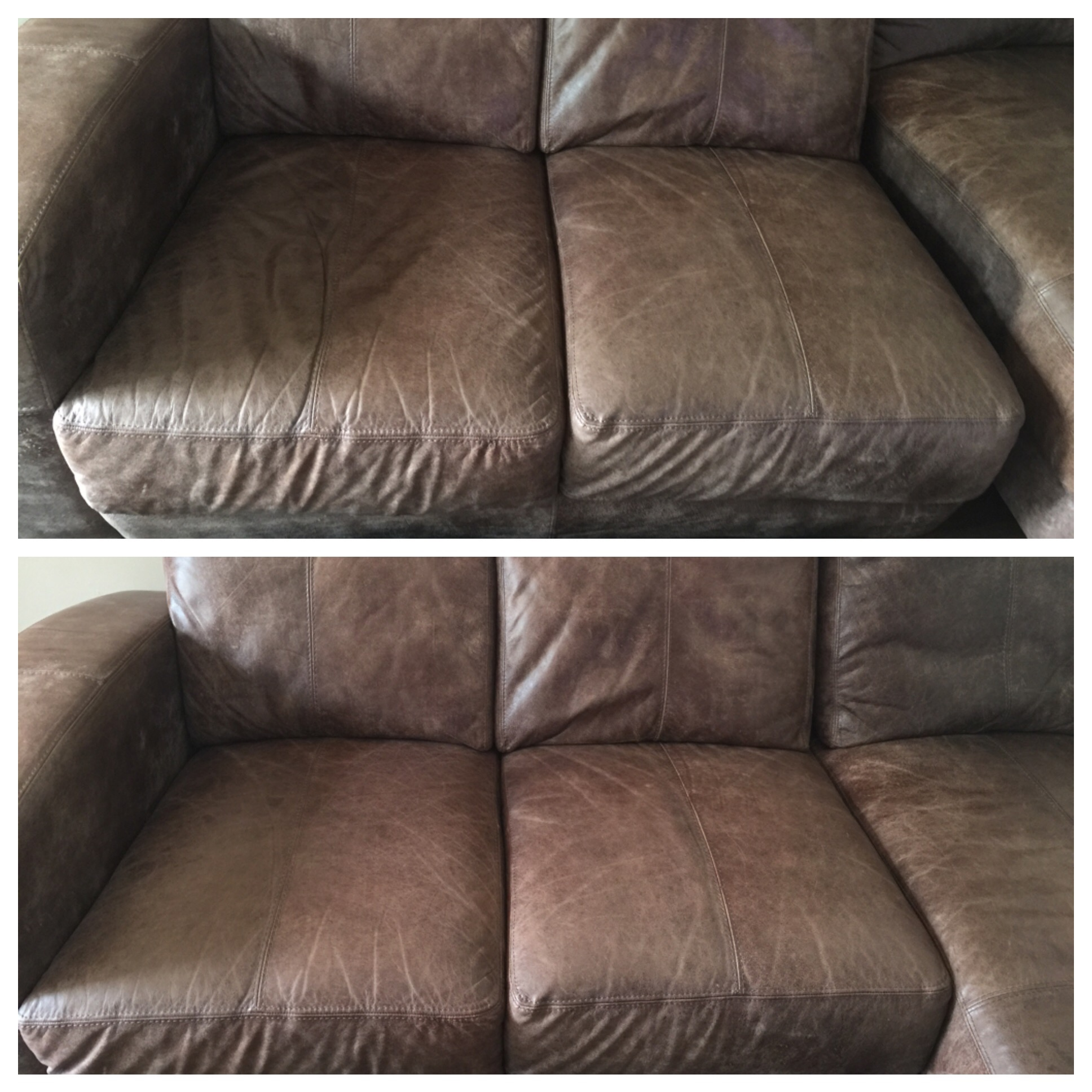 Leather mobi sofa repadding